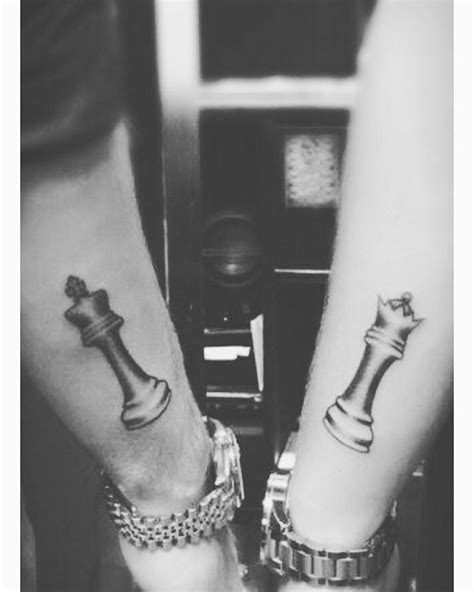 tattoo of a queen chess piece king and queen chess pieces couple tattoo venice tattoo
