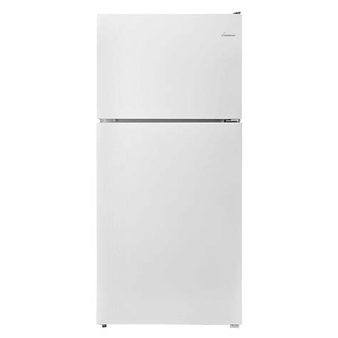 amana 18 2 cu ft top freezer refrigerator in white
