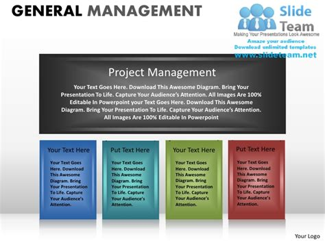 General Management Powerpoint Presentation Slides Ppt Project Management Presentation Template