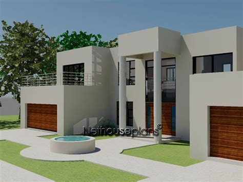 modern double story house plans m425d nethouseplans