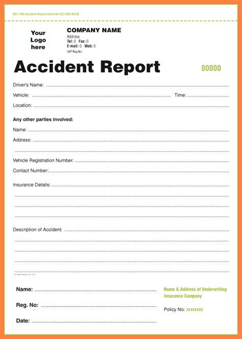 Incident Report Template Uk