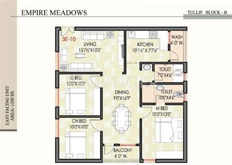 3 bhk house plan 1200 sq ft 3 bhk floor plan image empire meadows meadows