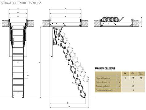 dimensioni scala interna scala retrattile fakro in metallo a forbice modello lsz