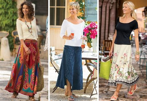 how to wear a maxi over 50 casual long skirts stylish fashion after 50 zestnow