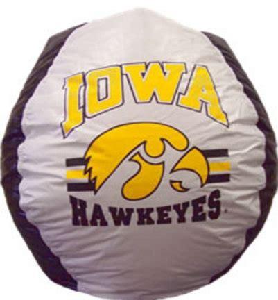 college football bean bag chairs iowa hawkeyes ncaa various merchandise carosta