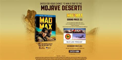 Sweepstakes Max - mad max fury road sweepstakes madmaxfuryroadsweepstakes com
