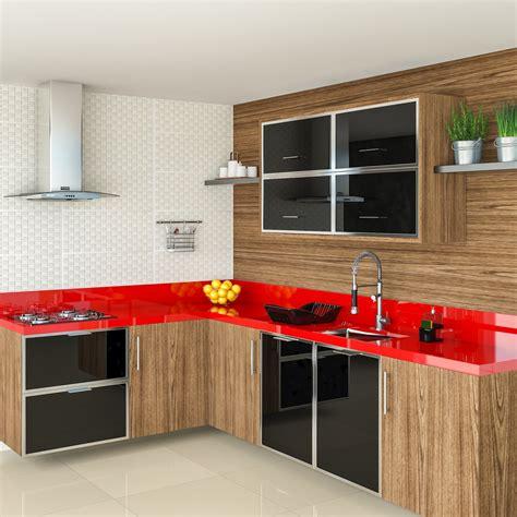 armarios de cozinha cozinha espa 231 osa detalhe vermelho leroy merlin