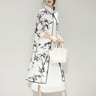 buy diosa set 3 4 sleeve print jacket sleeveless a line