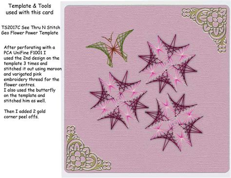 stitching card templates free sle card embroidery cards created with pca 174 easy templates