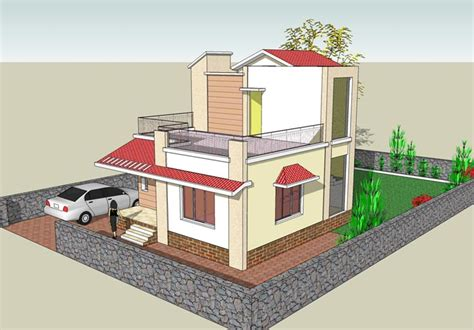 2 bhk home design image floor plan periwinkle bungalows at murbad indian eco