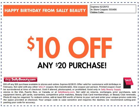 Sally Printable Coupons
