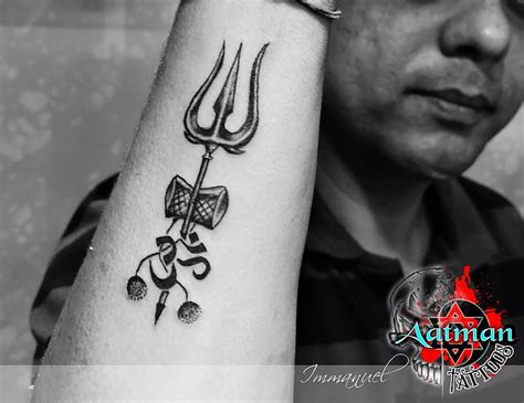 trishul custom tattoo by immanuel aatman tattoos bangalo