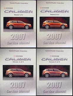car repair manual download 2007 dodge caliber spare parts catalogs 2007 dodge caliber repair shop manual original 4 volume set