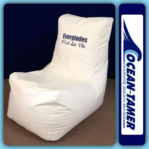 everglades boats logo ocean tamer wedge marine bean bag customized with the