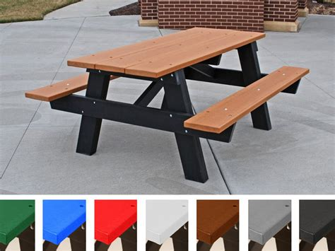 Haenim Play N Picnic Table recycled plastic a frame picnic table by jayhawk plastics aaa state of play