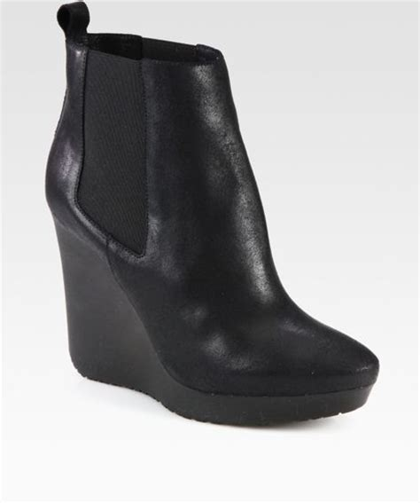 jimmy choo britani suede wedge ankle boots in black lyst
