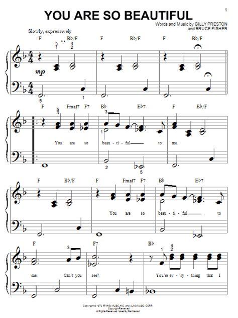 tutorial piano joe cocker you are so beautiful sheet music direct