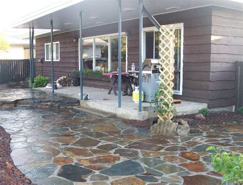 how to build a dry laid flagstone patio stone patio ideas pinterest flagstone patio