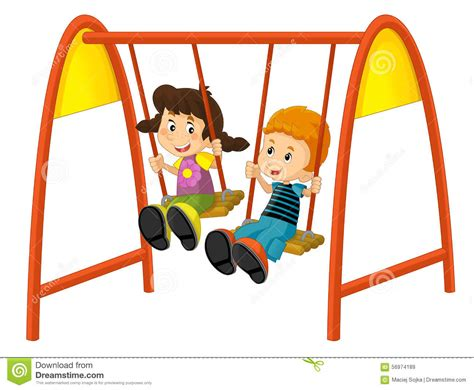 swing set cartoon swing clipart cartoon pencil and in color swing clipart