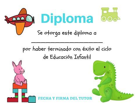diplomas escolares infantiles para ni 241 os para imprimir y diplomas y certificados para nios para imprimir colecci