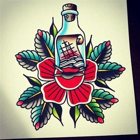 pinterest tattoo flash art traditional message in a bottle tattoo flash art pinterest