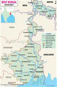 west road map geography maps of west bengal india