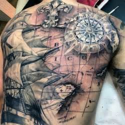 Sea Life Upholstery Fabric 50 World Map Tattoo Designs For Men Adventure The Globe