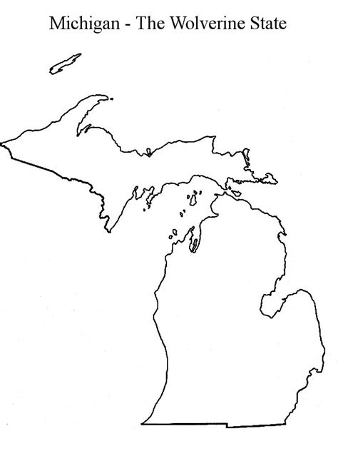 Simple Search Michigan Michigan State Map Outline Craft Tips