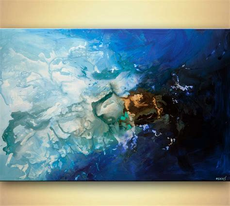 What Is Abstract Painting Modern Blue Abstract Acrylic Blue Painting 48 Quot By