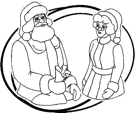 coloring pages of santa and mrs claus santa claus coloring pages