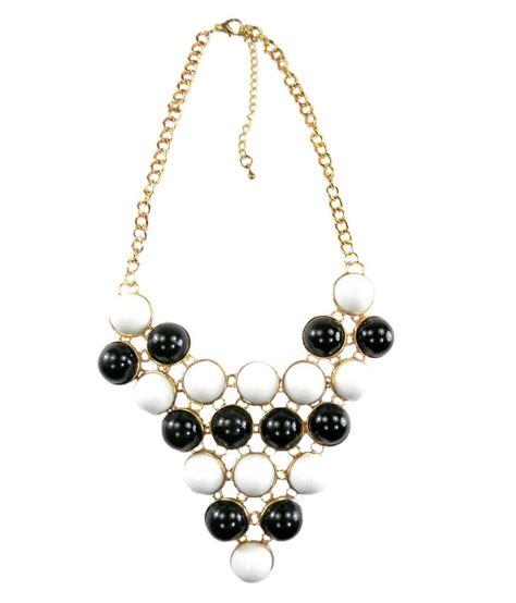 ssmitn black and white chunky necklace buy ssmitn