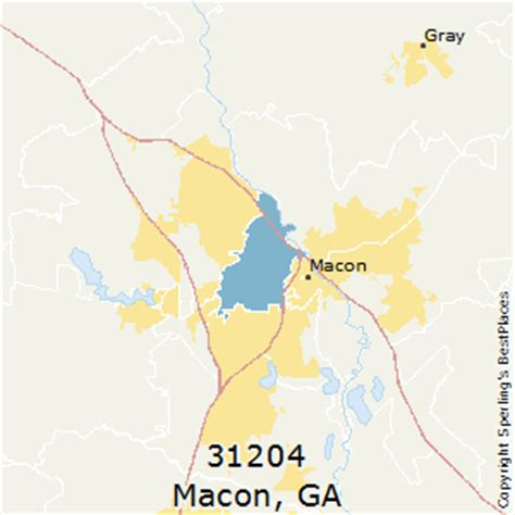 macon zip code map best places to live in macon zip 31204