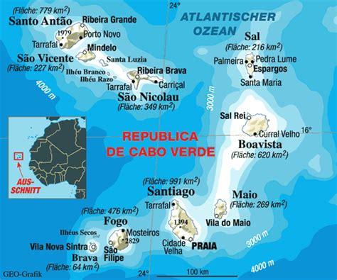 cape verde islands map cape verde map cape verde mappery