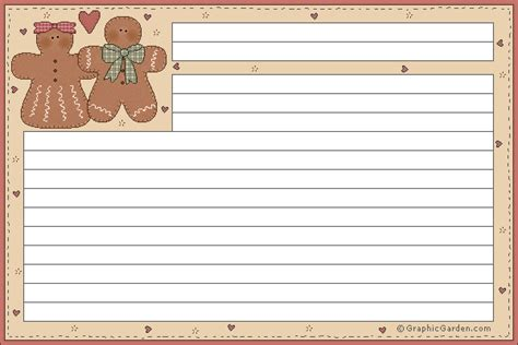 Gingerbread Recipe Card Template by 1000 Images About Gingerbread On