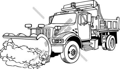 coloring page of tractor and snow plow cartoon snow plow clipart clipart suggest