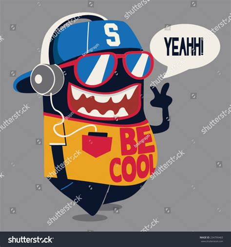 imagenes be cool cool monster graphic stock vector 234799465 shutterstock