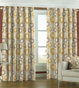 Yellow Patterned Curtains Skipper Yellow Circular Pattern Window Curtain 5 Ft By Skipper Window Curtains