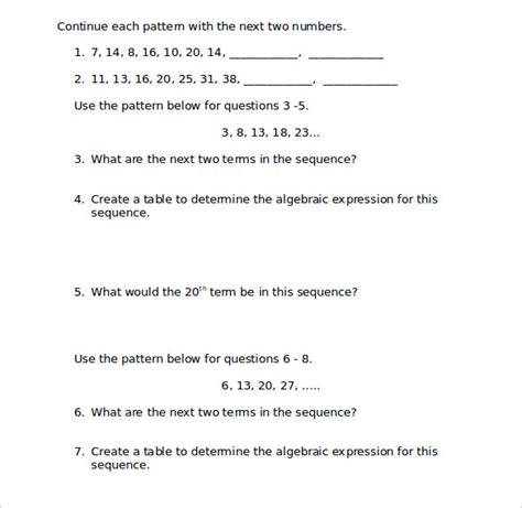 patterns algebra activities early stage 1 all worksheets 187 patterns and algebra stage 1 worksheets
