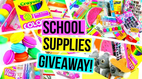 huge back to school supplies haul giveaway youtube - School Supply Giveaway