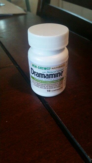 can you give a dramamine dramamine non drowsy naturals given to me for from influenster to try so i can give