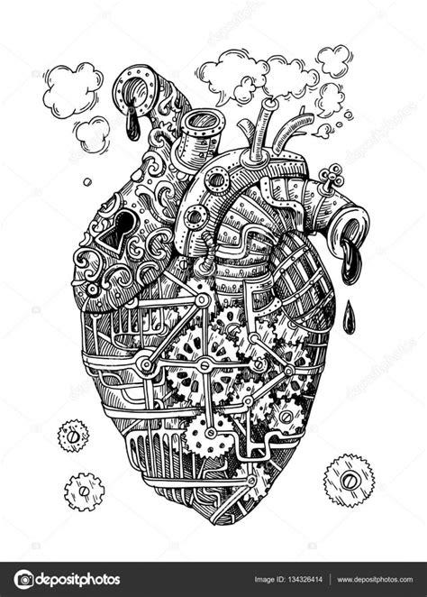 imagenes de corazones mecanicos coraz 243 n mec 225 nico de la ilustraci 243 n archivo im 225 genes