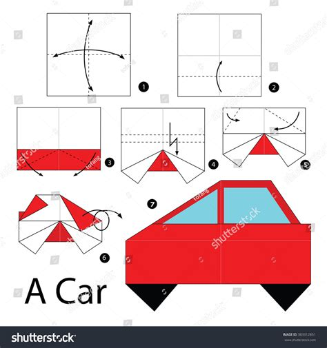 How To Make A Car Origami - step by step how to make origami a car