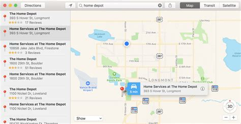 find nearby stores with apple maps ask dave