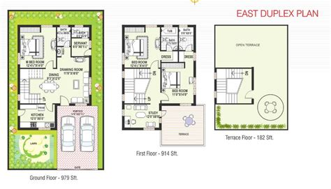 East Facing Duplex House Floor Plans 1200 Sqft East Facing Duplex House Plans