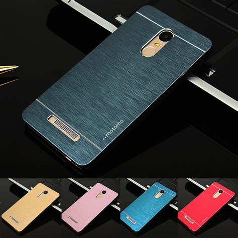 Xiaomi Redmi Note 3 Motomo Brushed Metal Casing Cover Armor Bagus for xiaomi redmi note 3 pro motomo aluminum metal brushed plastic for xiaomi