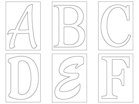 templates for alphabet letter template elementary letter
