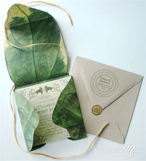 Leaf Themed Wedding Invitations by 27 Herr Der Ringe Inspiriert Hochzeits Ideen Mode Kreativ