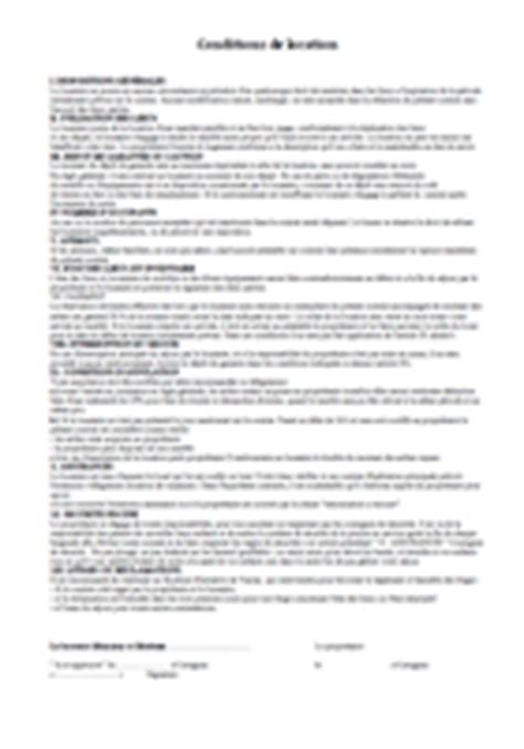 contrat location chambre conditions et contrat de location des chambres d h 244 tes de