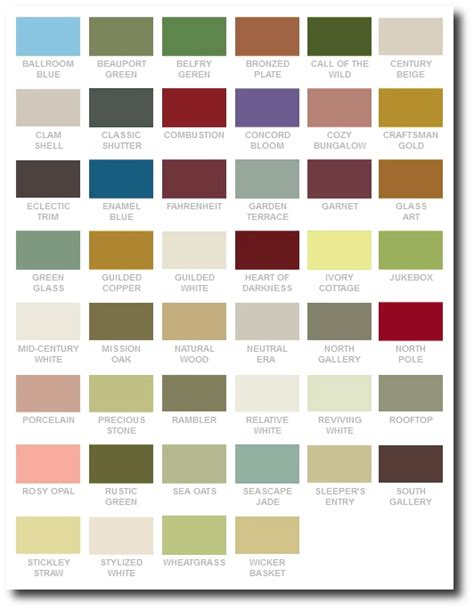 arts and crafts style paint colors