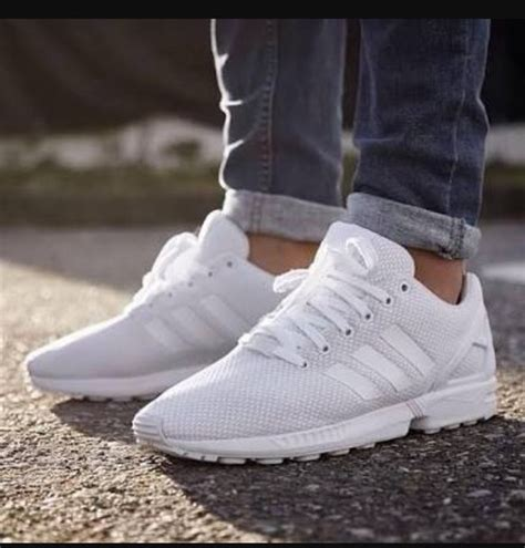 all white shoes shoes adidas flux all white everything zx flux nike